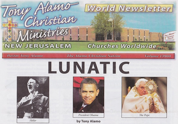 They couldn't even crop the Hitler photo to match the height of the other two?  This is why i stick with the Trumpet; i demand better production values from my religious conspiracy magazines.