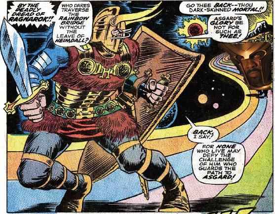 Black Heimdall invades Asgard