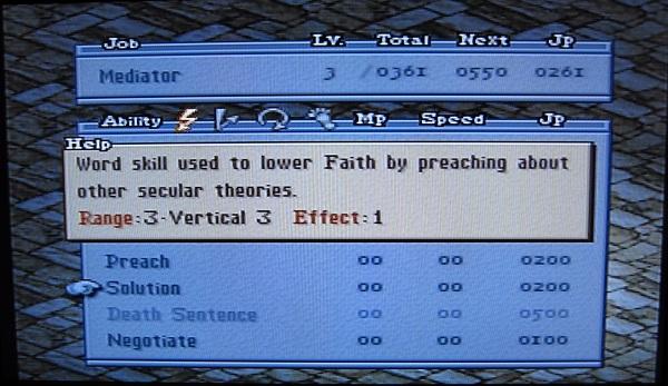 Final Fantasy Tactics: Secular Alternatives