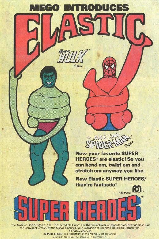 Mego Elastic Hulk & Spider-Man