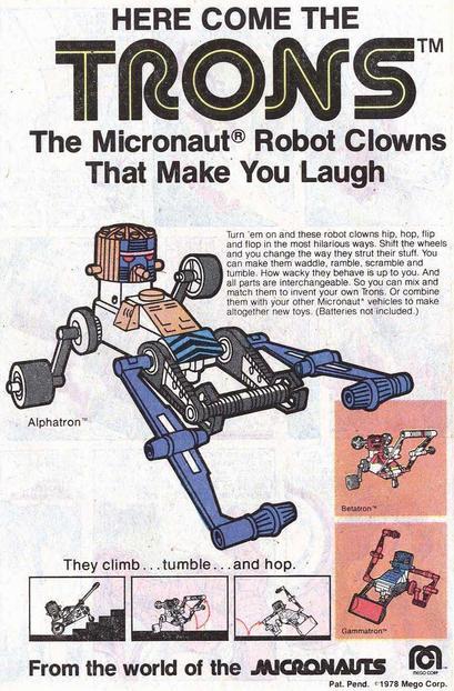 Micronauts Tron Robot Clown